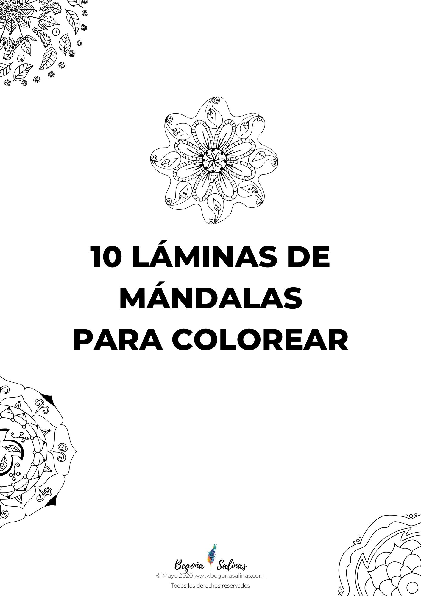 pdf 10 mandalas colorear